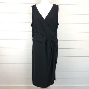 Chaps Little Black Dress Sleeveless Draped Waist